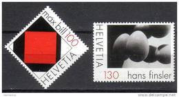 2008 Zu 1294-1295 / Mi 2086-2087 Art Max Bill + Hans Finsler ** / MNH - Nuovi