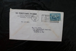 Canada C8 Air Training Plan With Slogan Cancel Quebec To The US Cancel 1947 A04s - Cartas