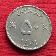 Oman 50 Baisa 1985 - 1986 / 1406 KM# 46a  Omã - Oman
