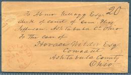 USA Suffield Cover - Ashtabula County, Ohio - …-1845 Vorphilatelie