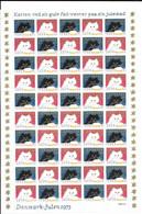 Denmark; Christmas Seals. Full Sheet 1973   MNH** - Volledige & Onvolledige Vellen