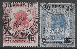 Italia Italy 1923 Colonie Somalia Sovrastampati In Besa 2val Sa N.39,42 US - Somalië