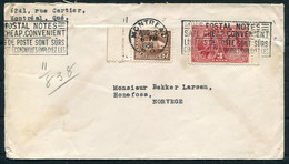 "1938 Canada Montreal Cover ""Bonne Sante"" Anti TB Charity Seal - Honefoss Norway - Cartas"