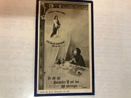 Zoete Godvruchtige Gedacht Michael Lauwereyssens Zoontje Jan En Umans Catherina *1926 Duffel +1930 Duffel Doodsprentje - Obituary Notices