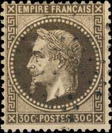"FRANCE - 1863-70 - Yv.30 30c Brun - Variété ""fond Ligné"" - Obl. TB - 1863-1870 Napoleone III Con Gli Allori"