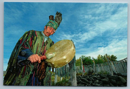 2011 ASIA TUVA Shaman Shamanistic Ritual Ethnic Mongolia Rare Photo Postcard - Otros Fotógrafos