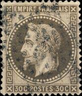 "FRANCE - 1863-70 - Yv.30 30c Gris-brun Foncé - Obl. Étoile De Paris "" 2 "" - TB - 1863-1870 Napoleone III Con Gli Allori"
