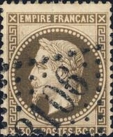 """FRANCE - 1863-70 - Yv.30 30c Brun - Obl. GC """" 3106 """" (Remiremont) - TB - 1863-1870 Napoleone III Con Gli Allori"""