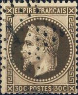 """FRANCE - 1863-70 - Yv.30 30c Brun Foncé - Obl. Étoile De Paris """" 1 """" - TB - 1863-1870 Napoleone III Con Gli Allori"""