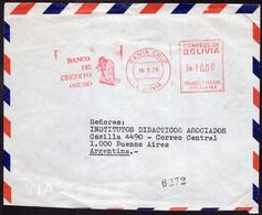 Bolivia - 1979 - Lettre - Cachet Spécial - Affranchissement Mécanique - Banco De Credito Oruro - A1RR2 - Bolivia