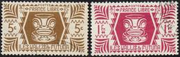 Wallis Et Futuna Obl. N°  139 Et 133 - Série De Londres. 1 Lie De Vin + 5c Bistre-brun - Used Stamps