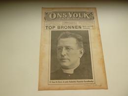 """Origineel Knipsel ( 3312 ) Uit Tijdschrift """" Ons Volk Ontwaakt """"  1925 :  Frans De Hovre  Oudegem   Gentbrugge - Sin Clasificación"""