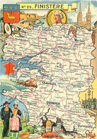 29 - Carte Geographique - Bretagne    O 1505 - Unclassified