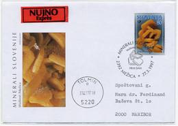 Slovenia 1997 Addressed FDC - Minerals Wulfenite - Minerals