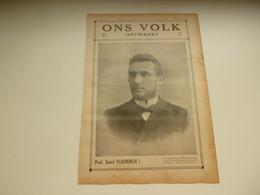 """Origineel Knipsel ( 3323 ) Uit Tijdschrift """" Ons Volk Ontwaakt """" 1925 : Prof. Emiel Vliebergh  Zoutleeuw  Leuven - Sin Clasificación"""