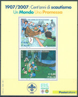 ITALIA - 2007 -  MNH/*** LUXE - JAMBOREE EUROPA - Sa FOGLIETTO 51  Yv BLOC 43 - Lot 23329 - Hojas Bloque