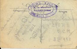 26 - VALENCE  - CACHET - Hopital Auxiliaire N° 201 - 23 Rue Général Farre VALENCE (drôme) - Association Des ? - Guerra De 1914-18