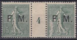 FRANCE : SEMEUSE FRANCHISE FM N° 3 MILLESIME 4 NEUVE * GOMME AVEC CHARNIERE - A VOIR - Militärpostmarken