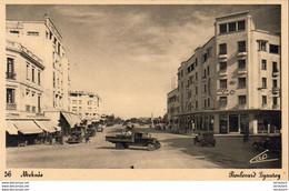 MAROC  MEKNES  Boulevard Lyautey - Meknes