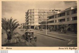 MAROC  MEKNES  Avenue De La République - Meknes