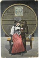 CPA OURS Buvant Du Vin Avec Une Femme Sur Ses Genoux - ( Suisse - Bern ) - Année 1906 - Bears