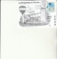 Z1 - Carte Avec Timbre Mongolfiades De Thionville Théâtre - Personalizzati (MonTimbraMoi)