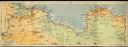 AFB80 RACI SEDE COLONIALE DI TRIPOLI ( MAP ) CARTE DOUBLE - Libya
