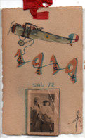 DIEST  CARTE  DESSIN D'UN  AVION  AVEC  CALENDRIER 1919   ECRITE DE DIEST  VOIR LES SCANS - Diest