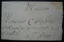 Saint Ilpize 1723 Lettre De Bareyre Prêtre Et Communaliste à Propos Du Vigneron Antoine Marchet Dit Cougourley Ht Loire - 1701-1800: Precursors XVIII