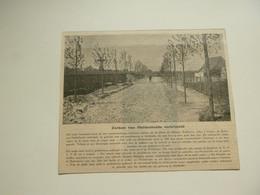 """Origineel Knipsel ( 3373 ) Uit Tijdschrift """" Ons Volk Ontwaakt """" 1925 : Verbrijzelde Zerken Heldenhulde  Adinkerke - Non Classés"""