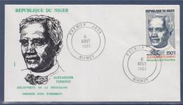 Alexander Fleming Découverte De La Pénicilline Enveloppe 1er Jour Niamey 6.8.81 - Níger (1960-...)