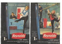 2 Pub Découpées Dans Journal Années 1970 / Stylos REYNOLDS - Printing & Stationeries