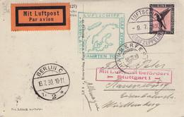 DEUTSCHES REICH - AK 1930 NORDLANDFAHRTEN 1930 GRAF ZEPPELIN  //G181 - Aéreo