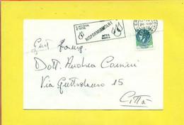 TARGHETTE-STORIA POSTALE-ANNULLI A TARGHETTA-ISOLATI SU BUSTA-MARCOFILIA-SIRACUSANA - 1971-80: Poststempel
