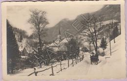 Saint-Pierre-d'Entremont (38) - Sur La Route En Traineau - Au Fond ... L'Église - Saint-Pierre-d'Entremont