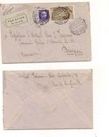 8823 Posta Aerea BELLINI 50c + Imperiale 50c 1936 Casale Monferrato X Libia - Marcofilía