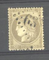CLX  1051  -  France  :   Yv  56c  (o)  Fond Ligné Vertical - 1871-1875 Ceres