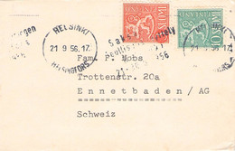 FINLAND - SMALL COVER 1956 HELSINKI > ENNETBODEN/CH   //G186 - Briefe U. Dokumente