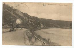Hastière Lavaux Route De Waulsort Train à Vapeur Cachet 1925 - Hastière