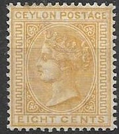 Ceylon Mh * Single CA Wtm 5.5 Euros 1883 - Ceylon (...-1947)