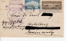 Hindenburg Lakehurst Nach Frankfurt Am Main  1936???? - Zeppelines