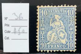 SUISSE -  N°36.   Cote 450€. Gomme Moyenne + Traces De Rouille. - Unclassified