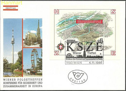 Austria 1986 Mi Bl8 FDC ( FDC ZE1 ASTbl8 ) - Unclassified