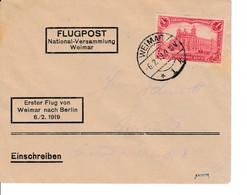 Flugpost Weimar 6.2.1919 Geprüft Sieger - Zonder Classificatie