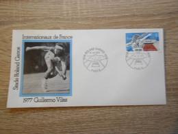 ENVELOPPE ROLAND GARROS INTERNATIONAUX DE FRANCE 1977 GUILLERMO VILLAS - Tennis