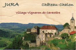 39 Jura - CHATEAU-CHALON Village Vigneron De Caractère - Carte En Bois Massif (érable) - TBE - Andere Gemeenten