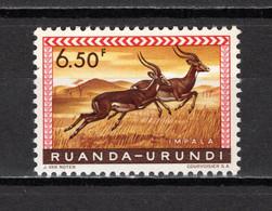 RUANDA-URUNDI   N° 214    NEUF AVEC CHARNIERE   COTE 0.50€    ANIMAUX - 1948-61: Neufs