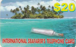 Bahamas, ? ,International Seafarer's Telephone Card, $20, 2 Scans.  Maybe Also Norway, NOR-PPC 14II-04 - Bahamas