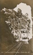 Real Photo Tranvia A Sierra Nevada Tunel Numero 12  Tramway Tram . Train - Sin Clasificación