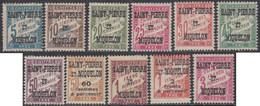 Saint-Pierre Et Miquelon 1910-1939 - Timbres-taxe N° 10 à 20 (YT) N° 10 à 20 (AM) Neufs *. - Timbres-taxe